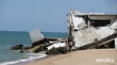 Impactantes imágenes de la erosión que devora la costa de Rincón