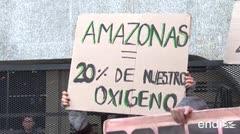 """""""Salven la Amazonía"""", gritan manifestantes"""