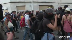 G7: manifestantes chocan con la policía en Bayona
