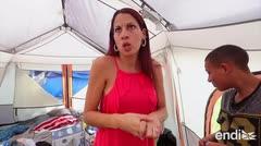 Una familia puertorriqueña en Orlando sobrevive en una caseta de acampar