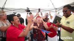 Empleados triunfan y celebran tras ocho días de huelga