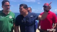 Representantes llegan a la costa de Arecibo y evalúan los problemas de erosión