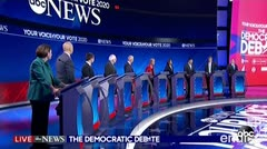 Trump se burla de tres precandidatos presidenciales tras el debate demócrata