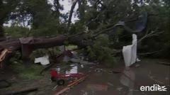 Imelda deja destrucción e inundaciones a su paso por Texas