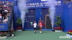 El momento en que Mónica Puig eliminó a Kerber del Abierto de Wuhan