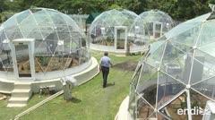 Estos domos increíbles simulan el calentamiento global