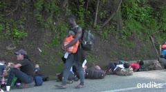 México disuelve caravana de 2,000 inmigrantes