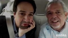 Orgullosos Lin Manuel Miranda y su padre Luis de promover el voto latino