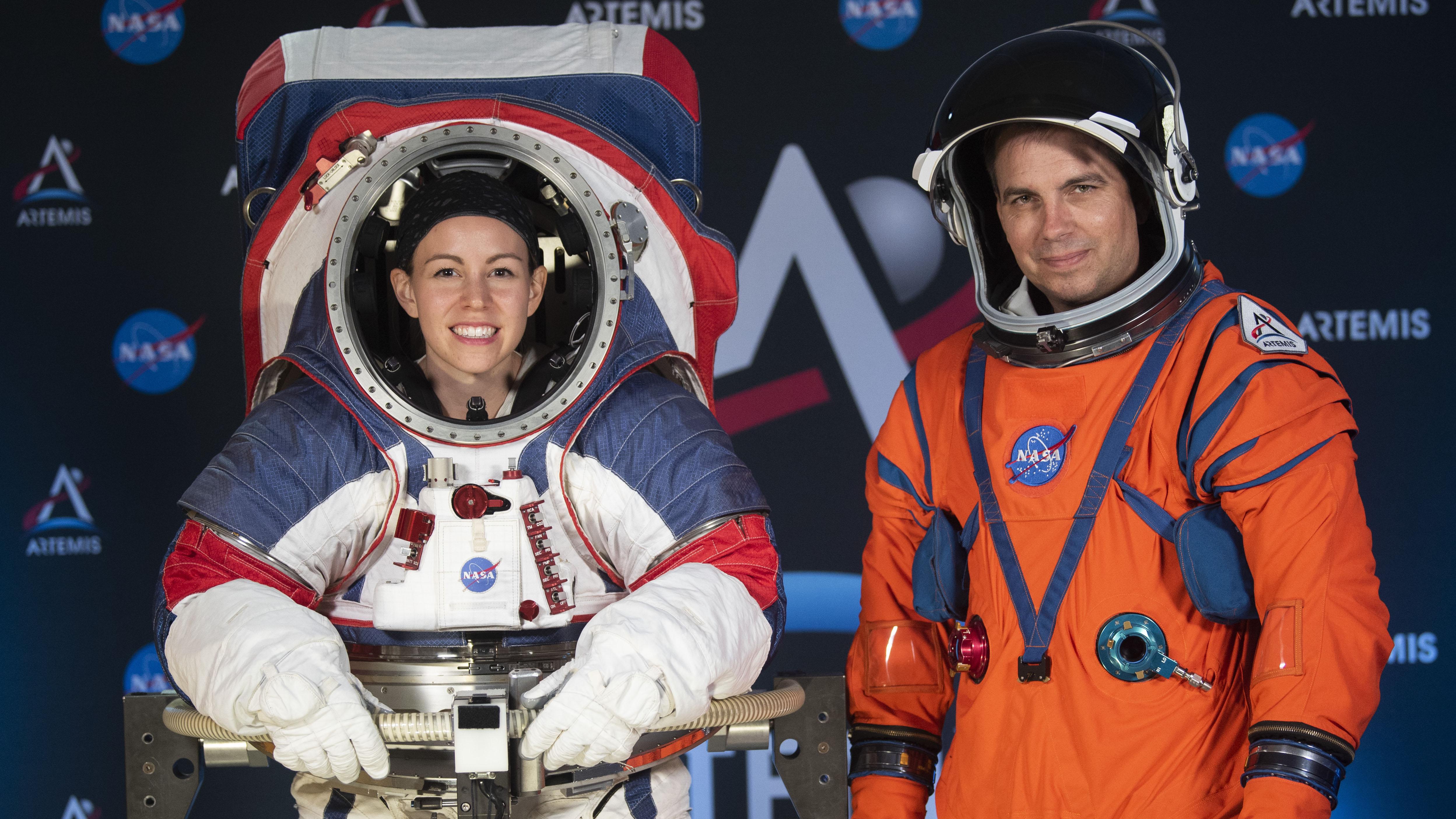 Mira los nuevos trajes espaciales de la NASA