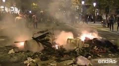 Nueva noche de protestas con barricadas y cócteles molotov en España