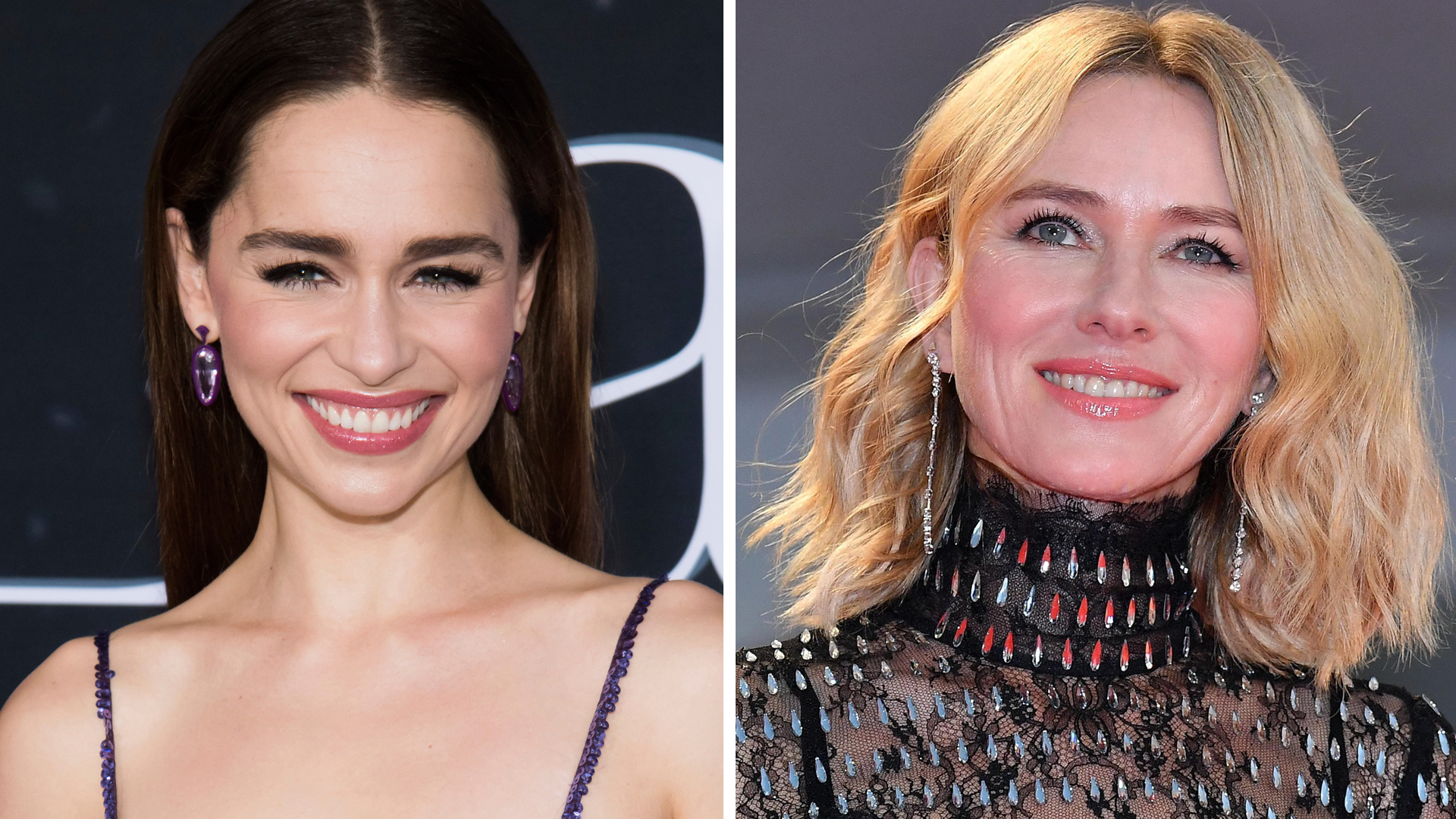 Reaparece Emilia Clarke para apoyar a Naomi Watts