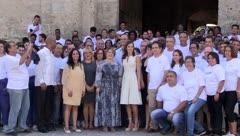La Reina de España recorrió varias zonas de La Habana