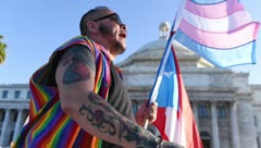 Protesta contra el nuevo Código Civil en el Capitolio