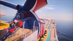 Extraordinaria montaña rusa en un crucero de Carnival