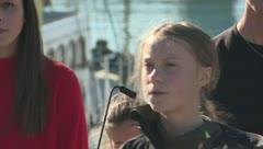 Greta Thunberg llega a Lisboa tras cruzar el Atlántico