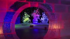 Inauguran una impresionante exhibición de esculturas de hielo en Berlín
