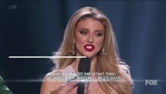 Escucha la pregunta final de Madison Anderson en Miss Universe