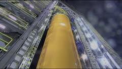 NASA: explota un tanque de combustible del SLS Megarocket durante una prueba