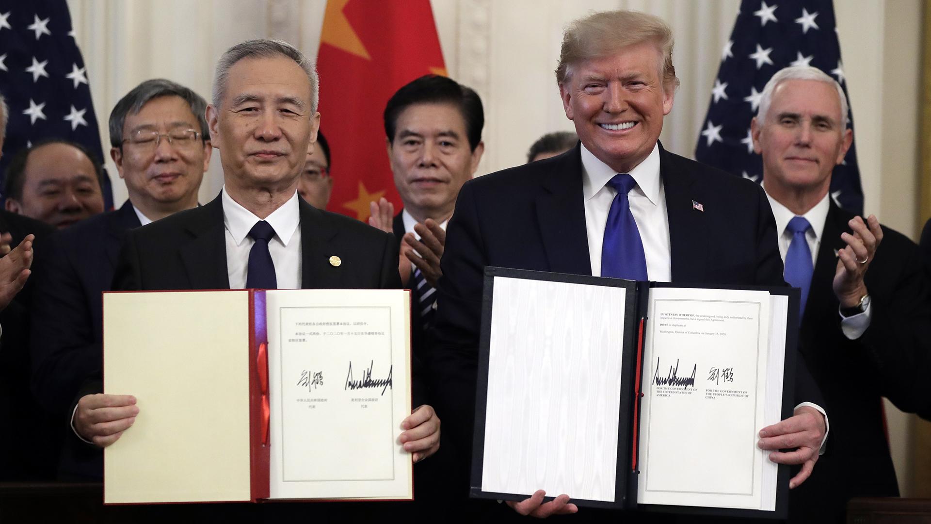 Trump celebra histórico pacto comercial con China