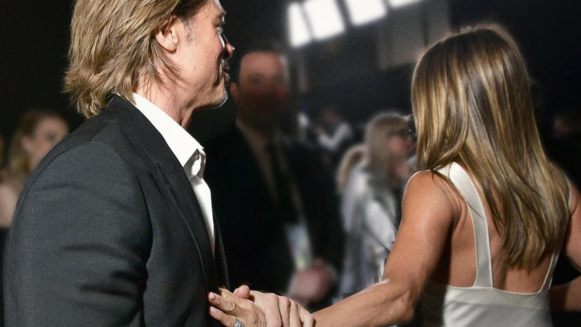 Así fue el reencuentro más esperado entre Brad Pitt y Jennifer Aniston