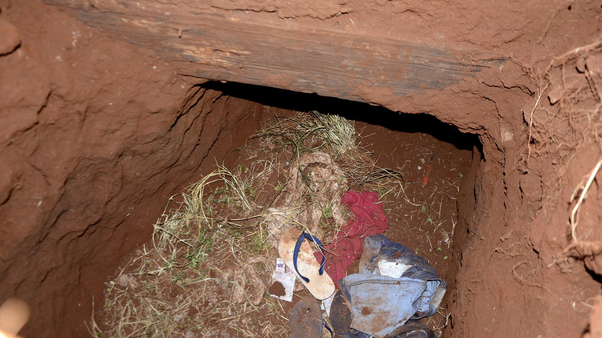 76 presos escaparon por este túnel en Paraguay