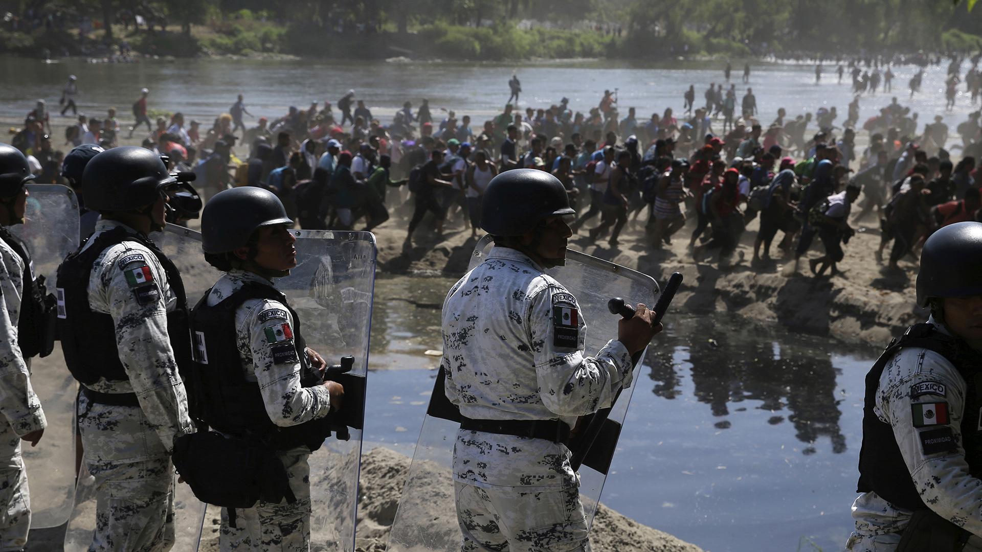 Caos en la frontera entre México y Guatemala