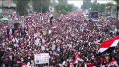 Multitudinaria manifestación en Irak contra tropas de Estados Unidos