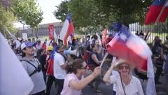Protesta en contra de una nueva Constitución en Chile