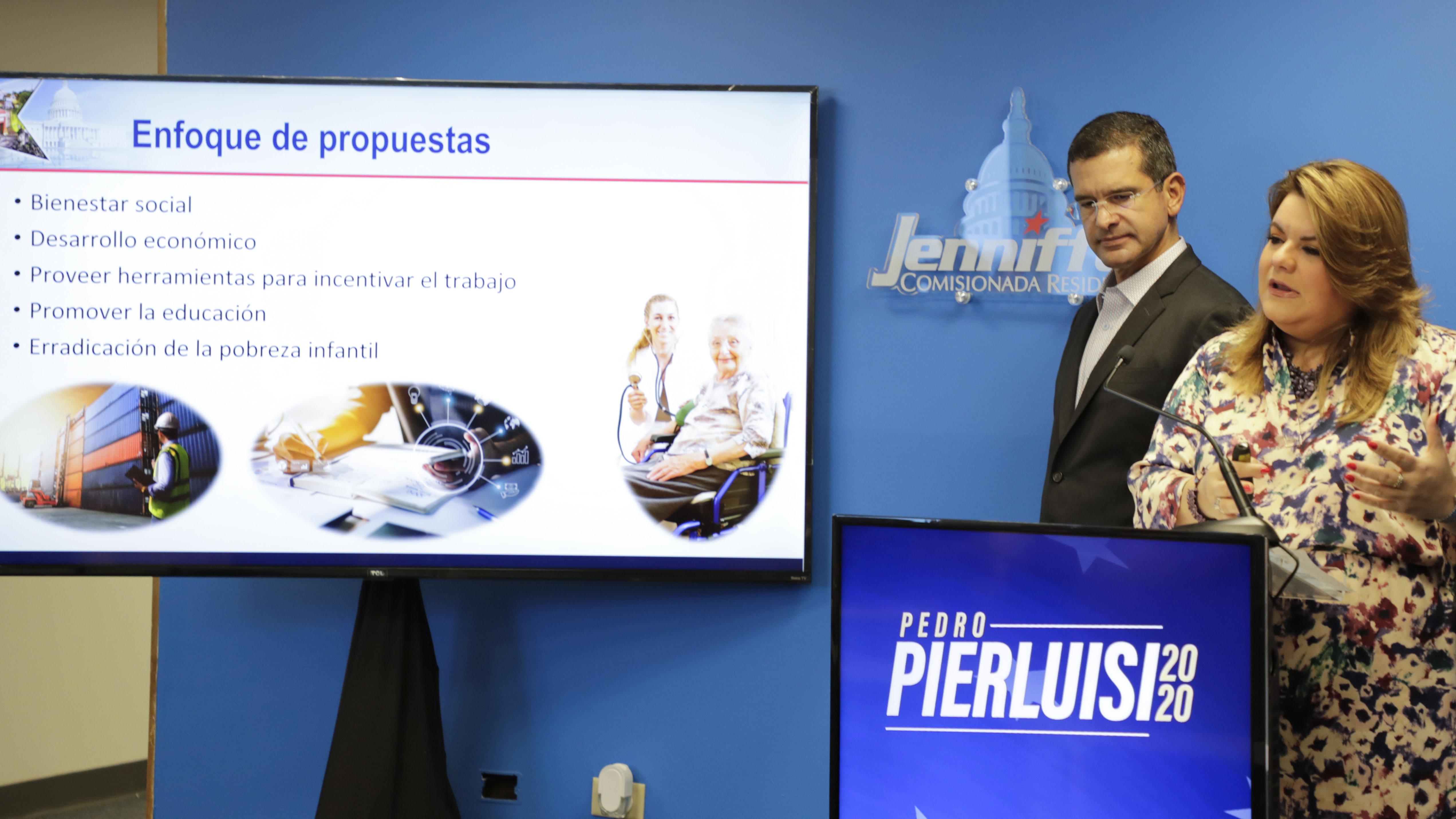 Pedro Pierluisi y Jenniffer González proponen reducir la pobreza infantil