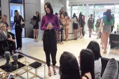 Jóvenes participan en el último casting del certamen Miss Universe Puerto Rico