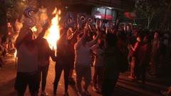 Miles vuelven a protestar en la céntrica plaza Italia de la capital chilena