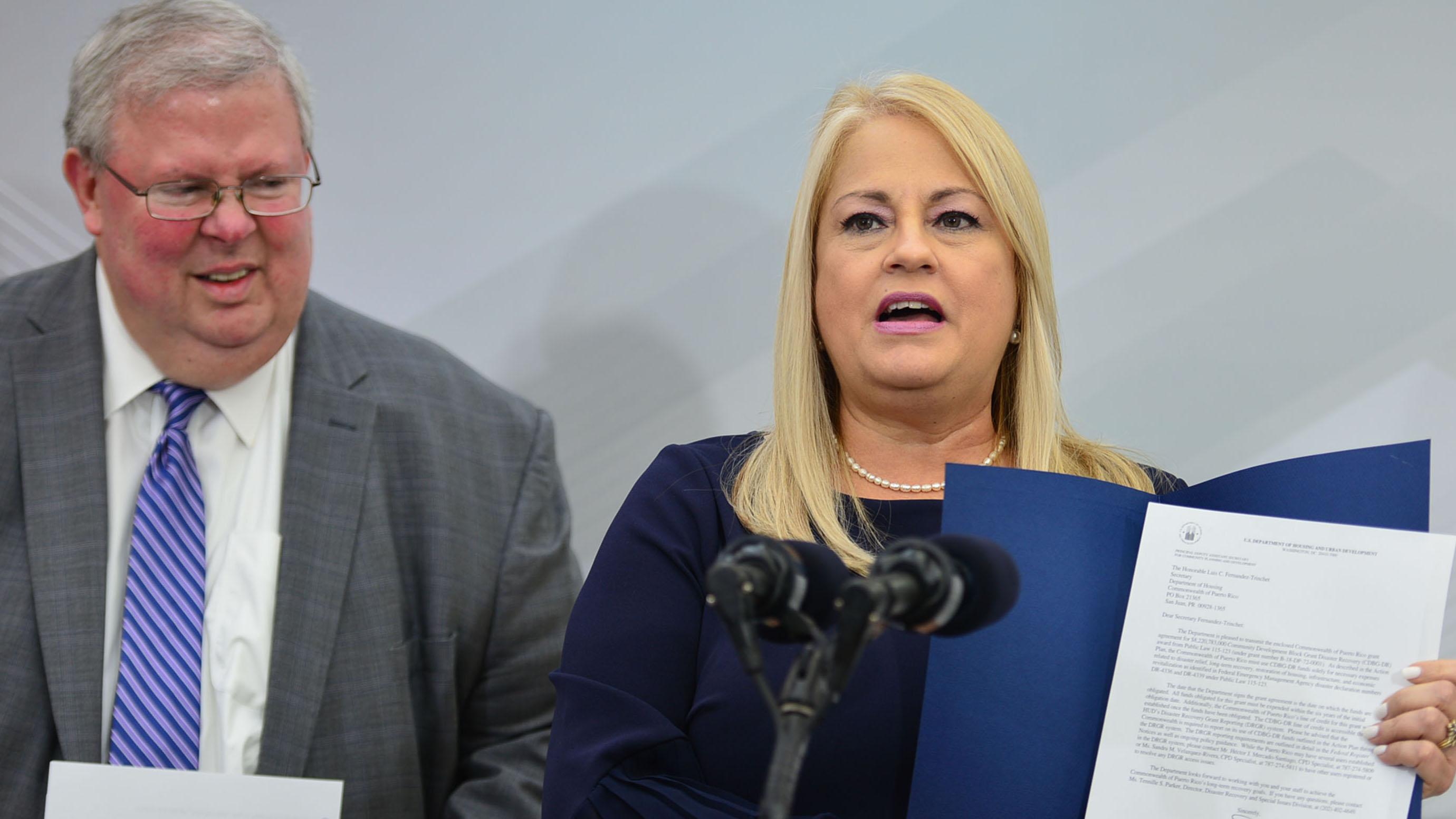 Wanda Vázquez recibe al subsecretario de Vivienda Federal