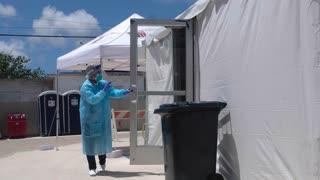 El alcalde de Humacao explica proceso en el CDT para atender pacientes sospechosos de COVID-19