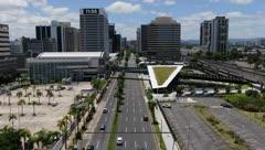 Imágenes aéreas del tránsito en San Juan durante la cuarentena extendida