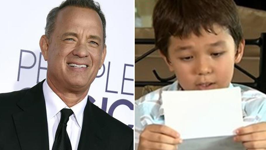 """Tom Hanks sorprende a niño que sufre por llamarse """"Corona"""""""