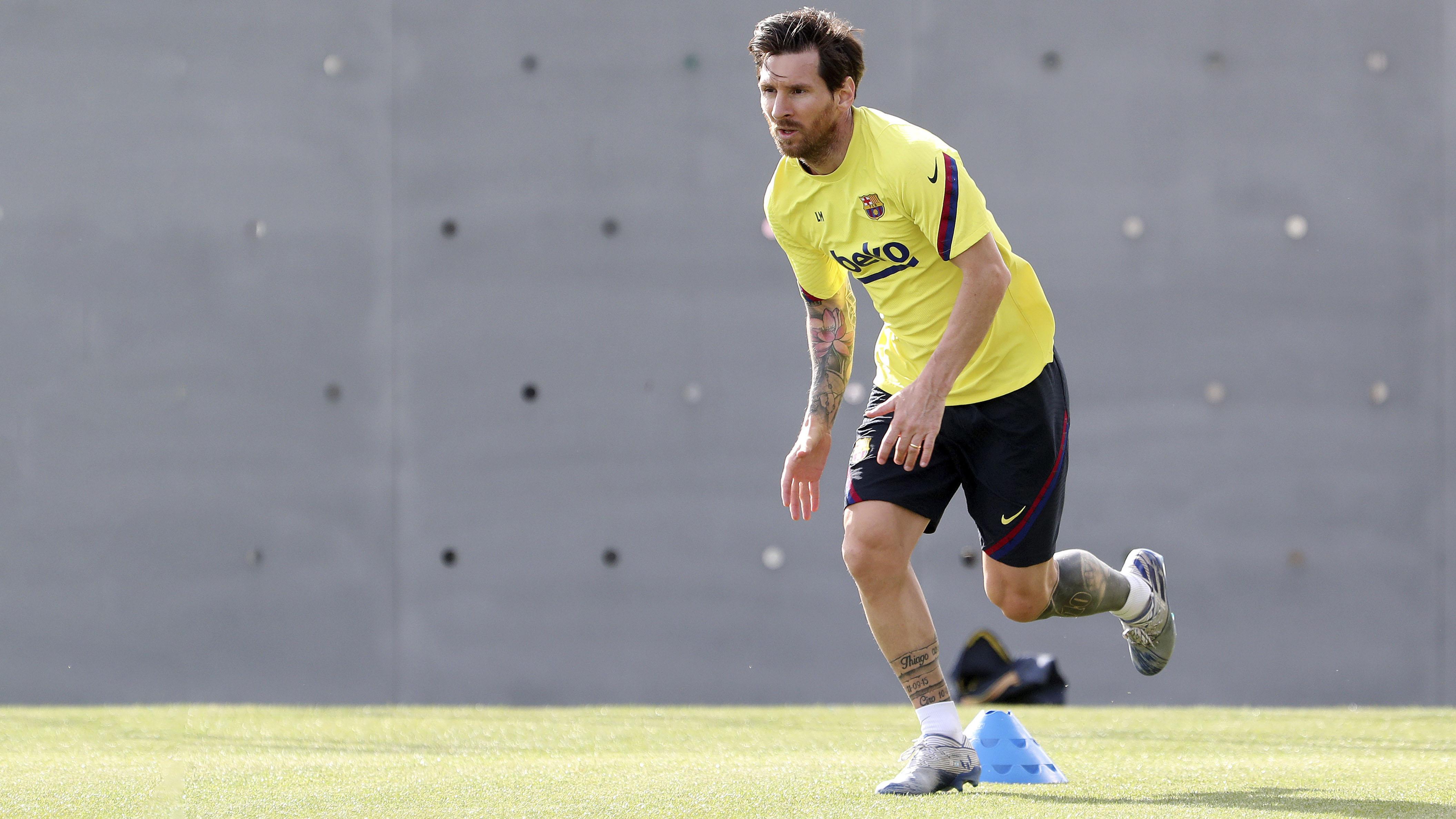Lionel Messi y el FC Barcelona vuelven a los entrenamientos