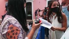 Alexandra Lúgaro rechaza nuevo Código Electoral frente a La Fortaleza