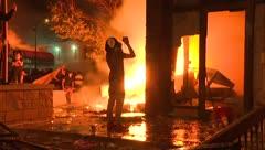 Dramáticas imágenes de Minneapolis en llamas