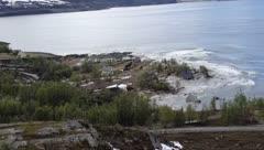 Un devastador deslizamiento de tierra arrasa con varias casas en Noruega