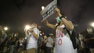 Manifestantes desafían la prohibición de la vigilia de Tiananmen en Hong Kong