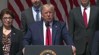 """Trump ante COVID-19: """"Nos está yendo muy bien"""""""