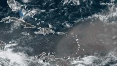 Antes y después: imágenes satelitales del polvo en Puerto Rico