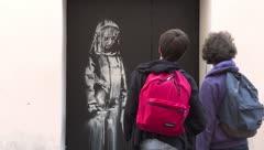 Encuentran obra de Banksy robada en el 2019