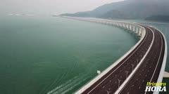 Extraordinario: inauguran el puente marítimo más grande del mundo