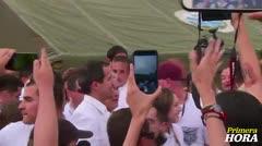 Opositor venezolano Guaidó llega a concierto de lado colombiano