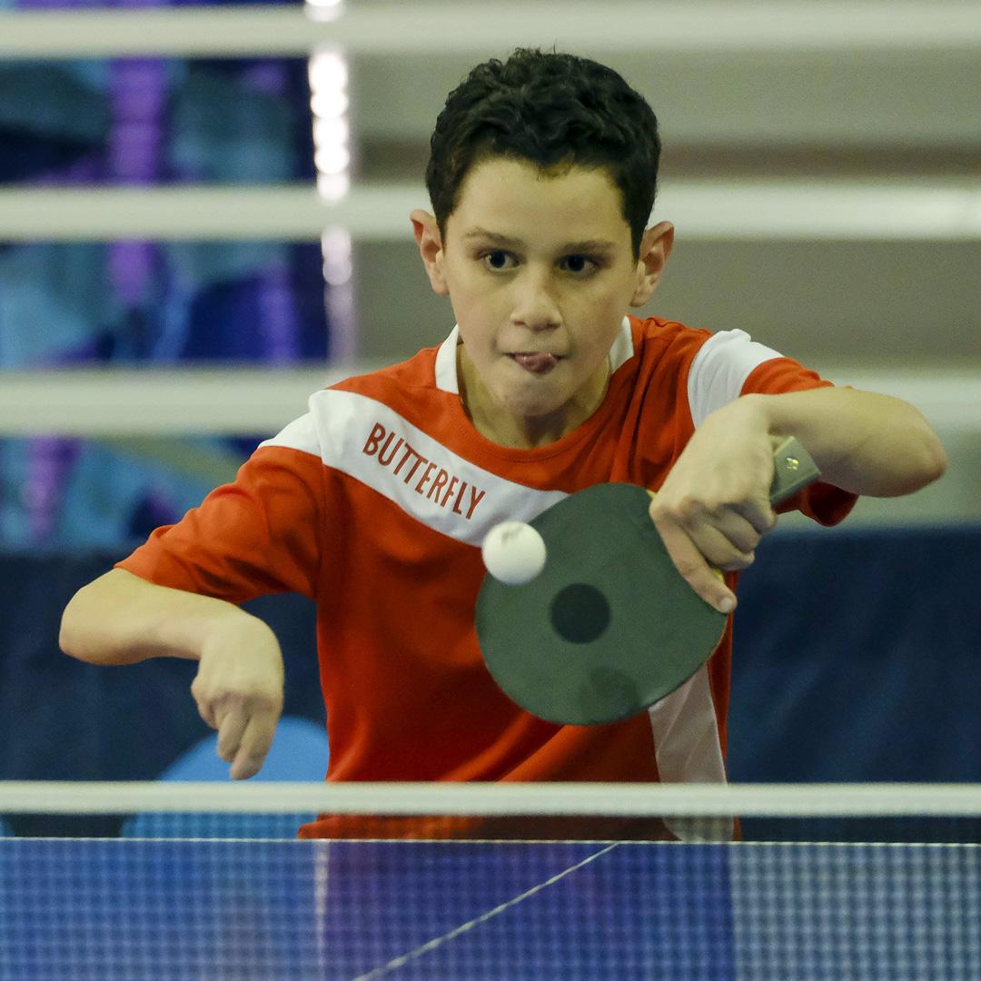 Jeriel Gustavo: sin barreras en el tenis de mesa