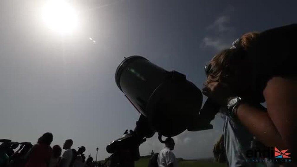 """Eclipse solar desde El Morro: una experiencia """"maravillosa"""""""