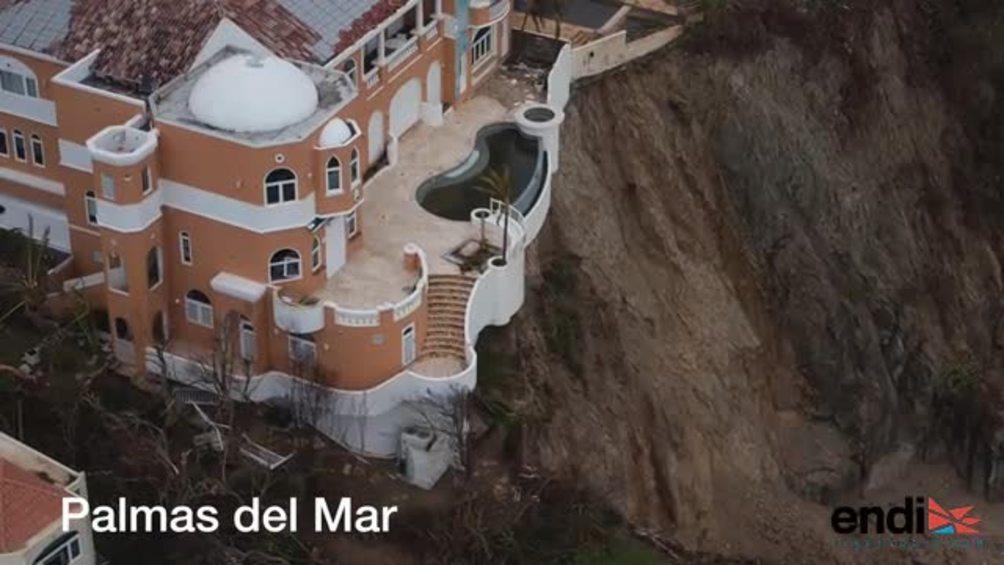 Imágenes aéreas muestran la devastadora realidad en el este de Puerto Rico