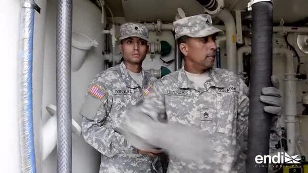 15 puertorriqueños en el Ejército ayudan a purificar el agua de Guajataca