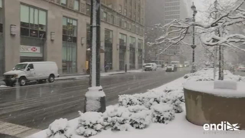 Una nevada primaveral azota el noreste de Estados Unidos